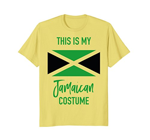 Mens This is my Jamaican Costume T-Shirt - Funny Halloween Tee Large Lemon -
