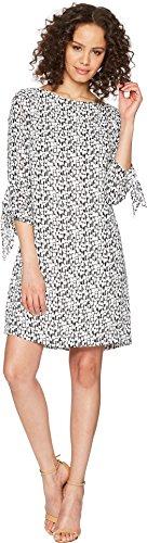 Tahari by ASL Women's Georgette Printed Shift Dress White/Black 18 (Printed Dress Georgette)