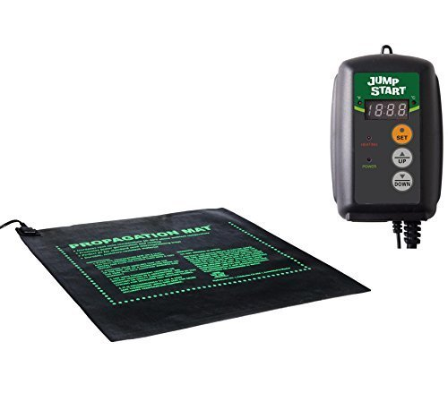 45W Seed Start Seedling Propogation Heat Mat + Hydrofarm MTPRTC Temp Controller by Hydrofarm
