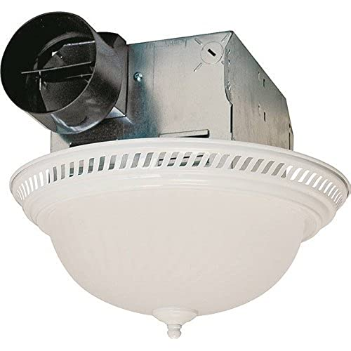 Round exhaust fan with light amazon air king drlc703 decorative round quiet exhaust bath fan with light 70 cfm white finish aloadofball Choice Image