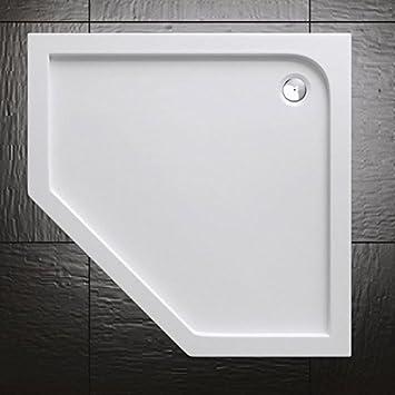 Plato de ducha acrílico Durovin Bathrooms, diseño pentagonal ...