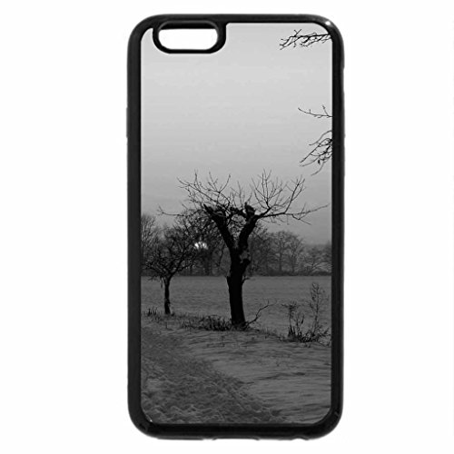 iPhone 6S Plus Case, iPhone 6 Plus Case (Black & White) - Sunset In Winter