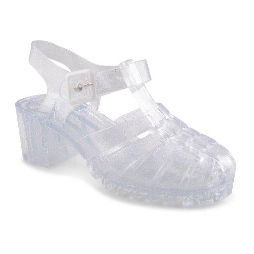 Footwear Sensation - Sandalias de vestir para mujer Blanco blanco crema Blanco - transparente brillante