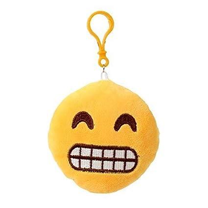 Llavero Emoji Emojicon 10 cm con cordel y Carabina - Sonrisa ...