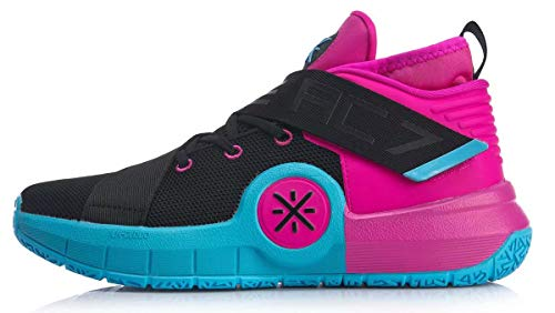 LI-NING All City 7 Wade Men Basketball Shoes Lining Anti-Slip Professional Shock Absorption Sneakers Sports Shoes Blue Pink ABAP101-1H US 12