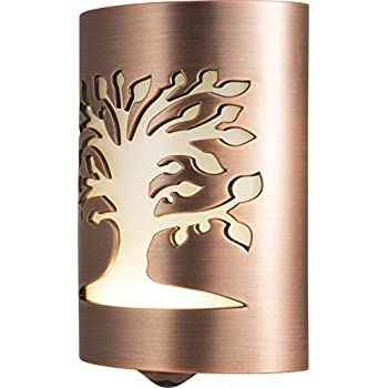 GE CoverLite LED Night Light, Plug-in, Dusk-to-Dawn Sensor, Home Décor, for Elderly, Ideal for Kitchen, Bathroom, Bedroom, Office, Nursery, Hallway, 29846, 1 Pack, Oil Rubbed Bronze   Tree of Life