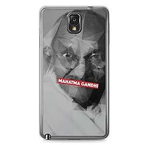 Mahatma Gandhi Samsung Note 3 Transparent Edge Case - Heroes Collection