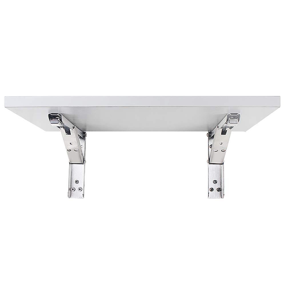 LIANGJUN 壁掛け棚 物品棚ステンレス鋼 折りたたみ式 ダイニングテーブル 本棚 防水 防錆 スペースを節約 強いベアリング 4サイズ (色 : 白, サイズ さいず : 100x30cm) B07MK48T1G 白 100x30cm