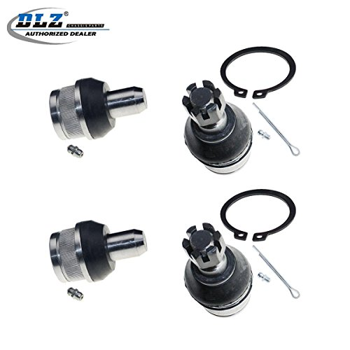 DLZ 4 Pcs Front Kit-2 Lower 2 Upper Ball Joint Compatible with 2007-2013 Ford E-150 2003-2013 Ford E-250 1992-2002 Ford E-250 Econoline 2004-2005 Ford E-250 Super Duty 2003-2005 Ford E-350 Club Wagon ()