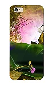 Goldenautumn High-quality Durability Case For Iphone 6 Plus( Nature Phantasmagoria Buerfly Leaves Forest Magic Flowers )