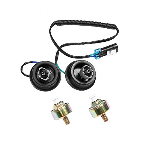 Dual Knock Sensors with Wiring Harness Kit | for Chevy Suburban Silverado Avalanche Tahoe, GMC Sierra Yukon, Cadillac Hummer & more GM Vehicles | Replace# 12601822 12589867 917-033