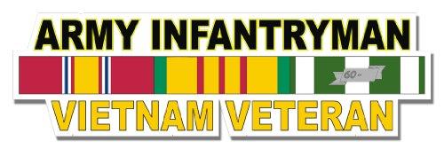 (Military Vet Shop U.S. Army Infantryman Vietnam Veteran Window Strip Window Bumper Sticker Decal 3.8