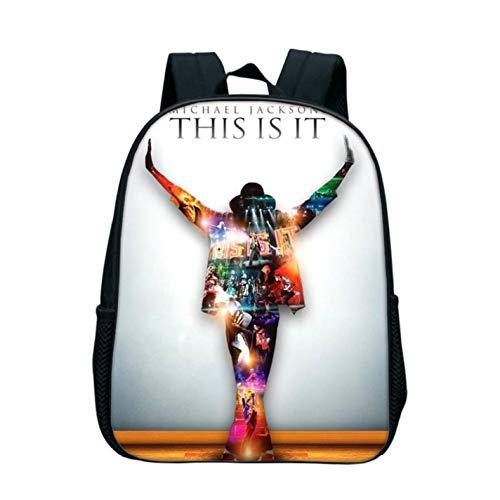 Michael Jackson Pattern Printed Backpack MJ Rucksack Girl Boys School Bag (Michael Jackson Backpack)