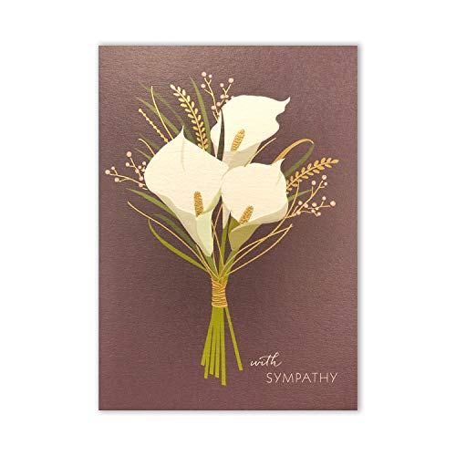 Calla Lilies Sympathy Card, Set of 3