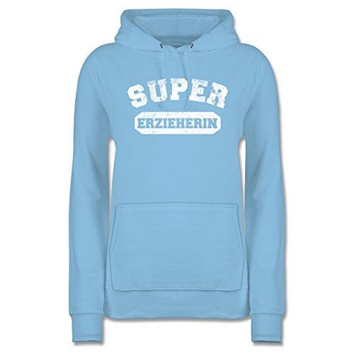 Erzieherin Damen Vintage Berufe Hoodie Sonstige Hellblau Super -