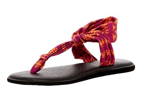 Womens Part Number - Sanuk Yoga Sling Ella Print Sandal - Women's Vivid Violet/Orange Koa Tribal, 7.0