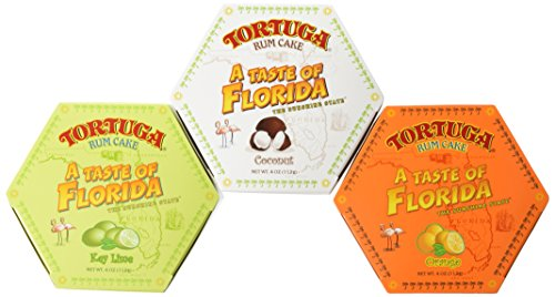 - Tortuga 'A Taste of Florida' Six-Pack Mix, 4-Ounce Rum Cake (Pack of 6)