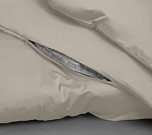 SHEEX - PERFORMANCE Cooling Duvet Cover, Soft, Breathable Fabric Releases Body Heat for Superior Comfort, Khaki (Full/Queen)