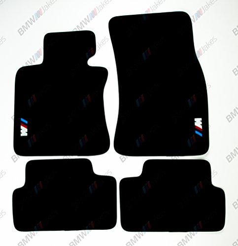 NEW CAR FLOOR MATS BLACK with ///M EMBLEM for BMW 6 series E63 by VOPI MATS