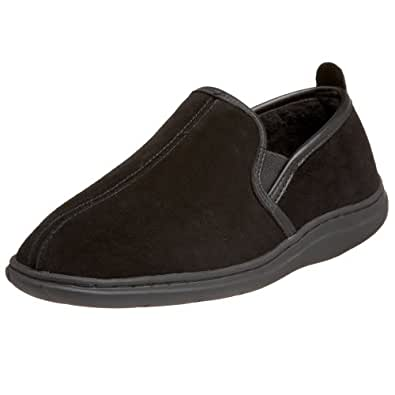 L.B. Evans Men's Klondike Closed Back Slipper,Black,10 EEE US