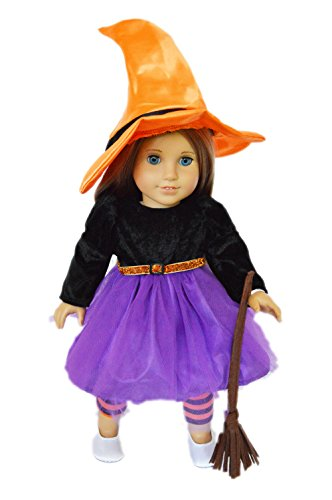 My Brittany's Spider Witch Halloween Costume for American Girl Dolls (Doll Halloween Costume)