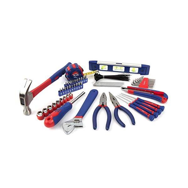 WORKPRO Werkzeugset Universal und Haushalts-Werkzeugkoffer 100-teilig Werkzeugsatz Mechaniker, perfekt für leichte…