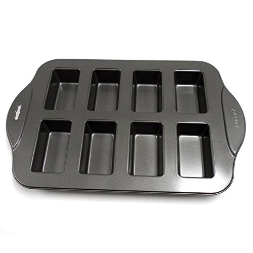 Norpro 3943 Nonstick Linking 8 Mini Bread Loaf Meatloaf Dessert Pan