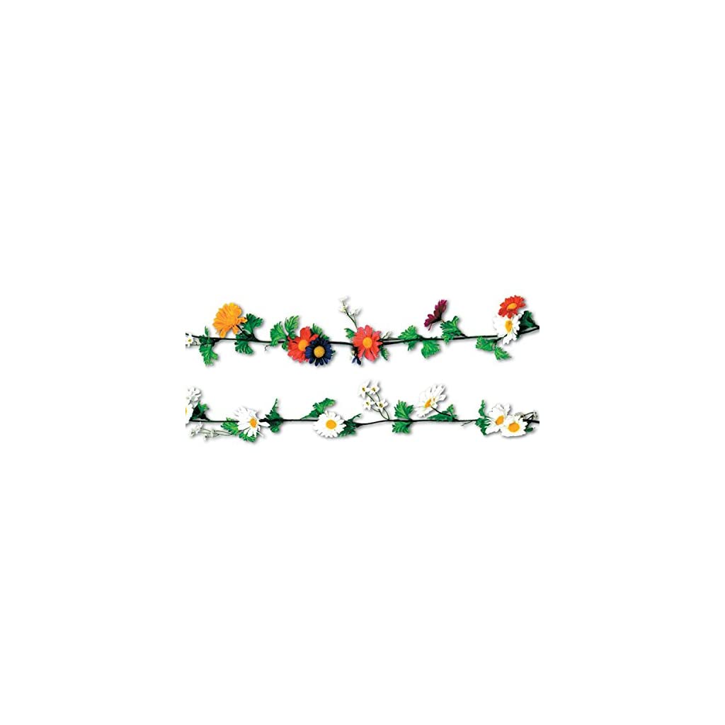 Club-Pack-of-12-Multi-Colored-Artificial-Silk-Daisy-Flower-Garlands-6