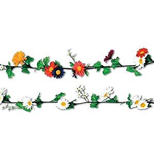 Club Pack of 12 Multi-Colored Artificial Silk Daisy Flower Garlands 6' 9