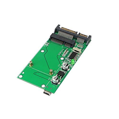 SinLoon mSATA Adapter Mini PCIE mSATA to SATA SSD Hard Drive Card Adapter Converter with USB Mini Interface (SATA/Mini-B)