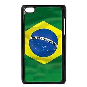 iPod Touch 4 Case Black Brazil Flag X5J2ZJ