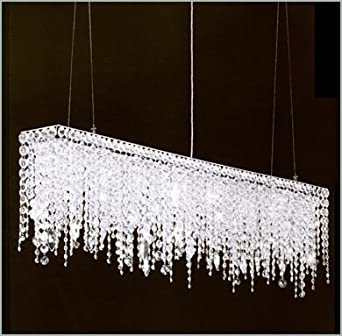 Nice 7PM W32u0026quot; Modern Crystal Chandelier Pendant Lights Lighting Fixture For Dining  Room Over Table