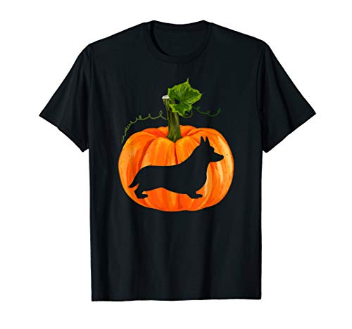 Happy Halloween Corgi Dog T-Shirt Gifts Funny Dog Christmas T-Shirt -