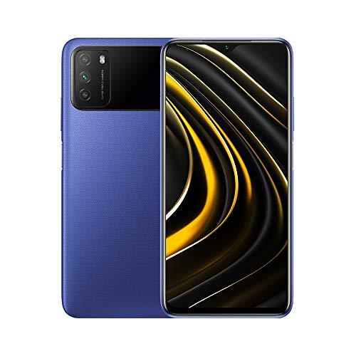 Poco M3 Unlocked Cell Phone | OS Android 10,Qualcomm SM6115 Snapdragon | 662Battery Li-Po 6000 mAh | Dual SIM | GSM - International Version | (Blue, 128)