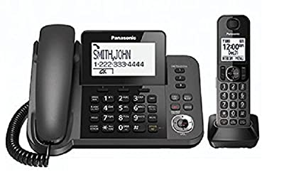 Panasonic KXTGF350M Dect 1-Handset Landline Telephone (Certified Refurbished) (KX-TGF350N METALLIC GRAY)