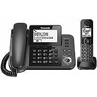 Panasonic KXTGF350M Dect 1-Handset Landline Telephone (Certified Refurbished) (KX-TGF350N METALLIC GRAY)