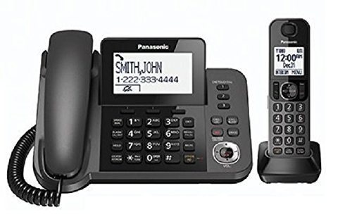 Panasonic KXTGF350M Dect 1-Handset Landline Telephone (KX-TGF350N METALLIC GRAY)(Renewed)