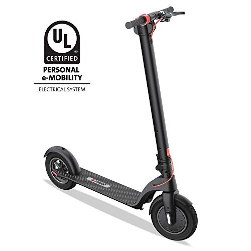 Turboant Folding Electric Scooter X7 with Detachable Battery Pack, 350W Motor Up to 19.9 MPH, 8.5' Tubeless Pneumatic Front and Rear Tires