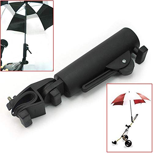 QIYAT Golf Cart Umbrella Holder, Angle & Internal Width Adjustable Umbrella Amount Universal for Bicycle Stroller, Baby Carriage, Wheelchair