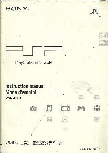 instruction manual mode d emploi for sony playstation portable psp rh amazon com sony playstation 2 instruction manual sony playstation 4 instruction manual