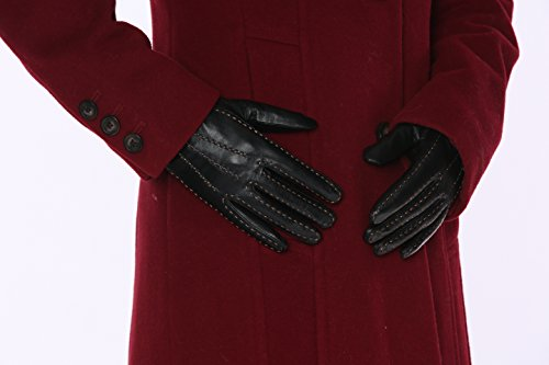 MoDA Ms Minsk Women's Stitched Genuine Leather Fully Lined Winter Gloves
