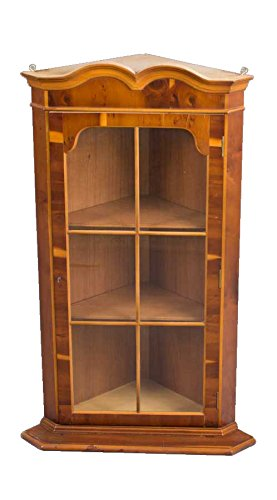Hanging Yew Wood Corner Cabinet (Wood Furniture Yew)