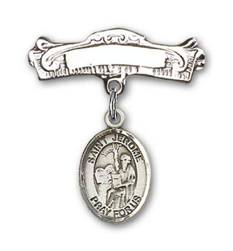 Icecarats Créatrice De Bijoux En Argent Sterling St. Jerome Charme Broches Badge Arc 7/8 X 7/8