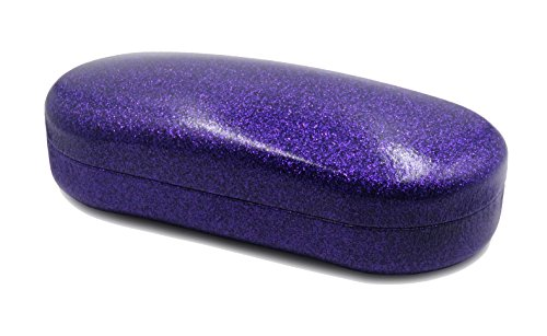 MyEyeglassCase Glitter Sunglasses Case and Sparkle Eyeglass Case (Large - Measurements Sized Medium Sunglasses