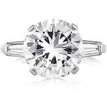 Mark Broumand 5.45ct Round Brilliant Cut Diamond Three-Stone Engagement Ring