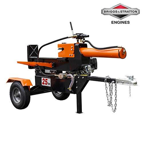 Stark Industrial 25-Ton Horizontal/Vertical Hydraulic Log Splitter Full Beam Gas Briggs & Stratton CR950 Engine