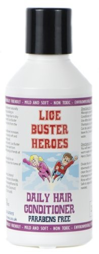 Lice Buster Heroes Conditioner 250ml for the removel of Head lice and nits Natural Enzymes