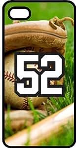 Baseball Sports Fan Player Number 52 Black Plastic Decorative iPhone 5c Case