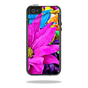 Mightyskins Protective Vinyl Skin Decal Cover for OtterBox Commuter Wallet iPhone 5/5S Case wrap sticker skins Colorful Flowers