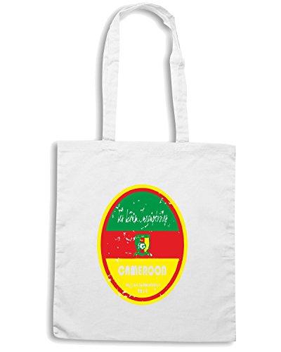 T-Shirtshock - Bolsa para la compra WC0655 World Cup Football - Cameroon Blanco